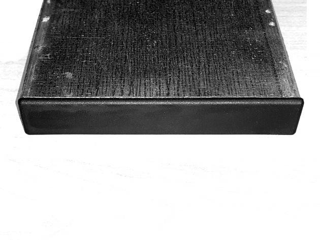 Plastikowa zatyczka zaślepiająca stalowy profil o wymiarach 120mm na 20mm